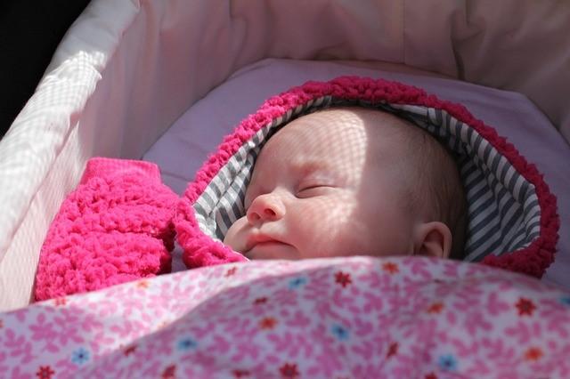 Når baby sover ude om vinteren